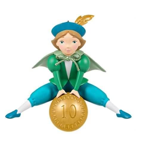 2020 Twelve Days #10 - Ten Lords a Leaping Hallmark ornament (QXR9314)
