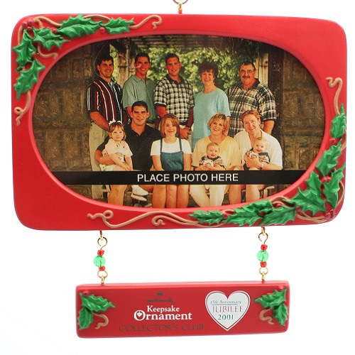 2001 Our Family - Photoholder  Colorway Hallmark ornament