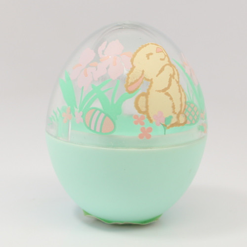 1992 Egg - Green Clear Bunny