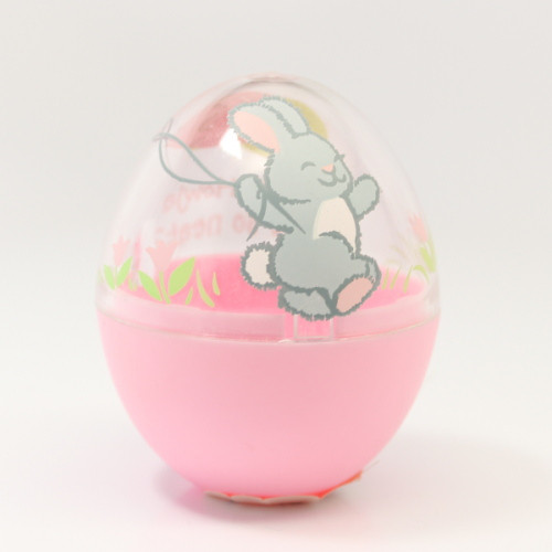 1992 Egg - Pink Clear Bunny