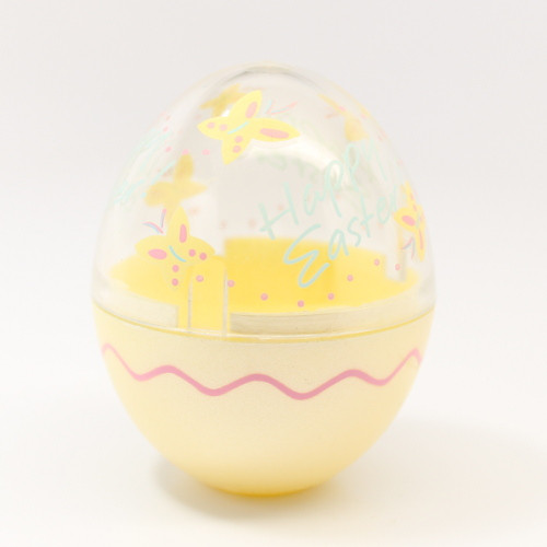 1991 Egg - Yellow Clear Bunny