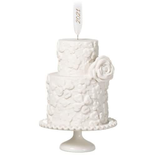 2021 We Do Wedding Cake Hallmark ornament (QHX4075)