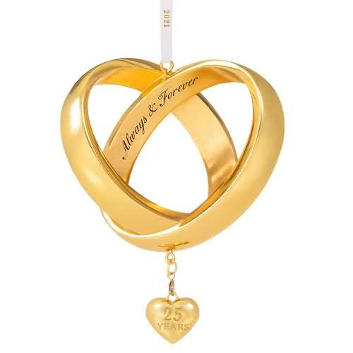 2021 Always and Forever Anniversary Hallmark ornament (QHX4032)