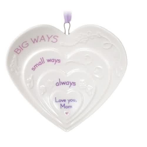 2021 Mom, Love You Hearts Hallmark ornament (QHX4035)
