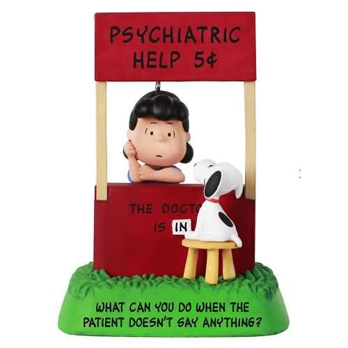 2021 Peanuts - The Doctor is In - Lucy and Snoopy Hallmark ornament (QXI7175)