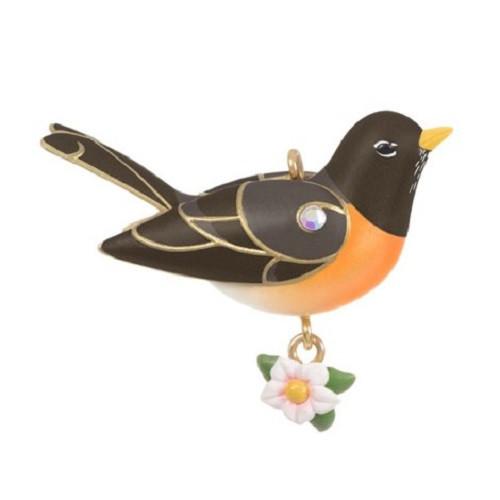 2021 Beauty of Birds - Spring Robin Hallmark ornament (QXM8235)