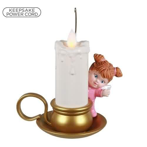 2021 Angelic Candlelight Hallmark ornament (QGO2155)