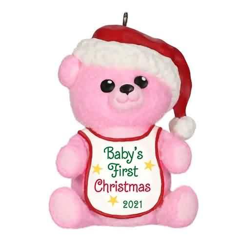 2021 Babys First Christmas - Girl Hallmark ornament (QGO2212)