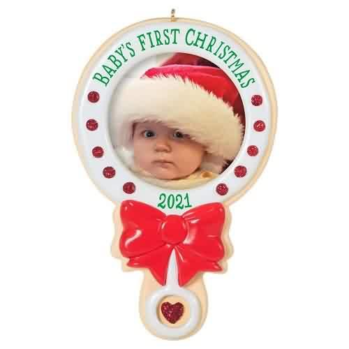 2021 Babys First Christmas - Photo Hallmark ornament (QGO2192)