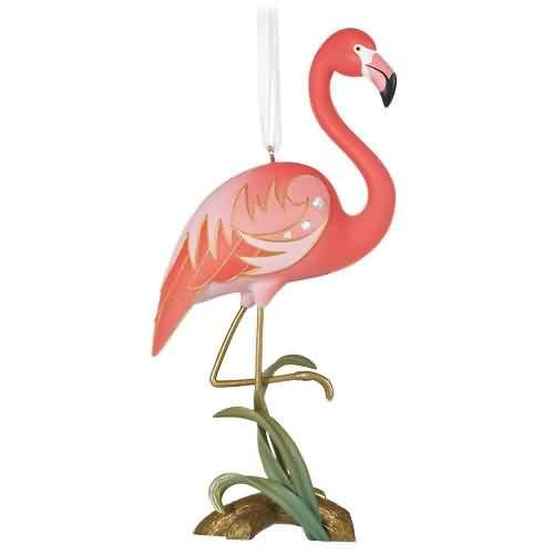 2021 Beauty of Birds - Fancy Flamingo Hallmark ornament (QGO2392)