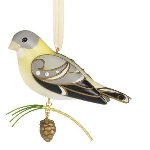 2021 Beauty of Birds - Lady Evening Grosbeak - Ltd Hallmark ornament (QXE3225)