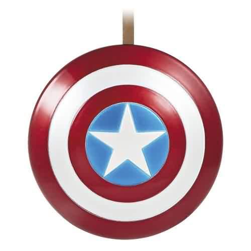 2021 Captain Americas Shield Hallmark ornament (QXI7492)