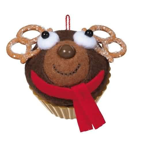 2021 Christmas Cupcakes - Sweet Reindeer Treat - Ltd Hallmark ornament (QXE3222)