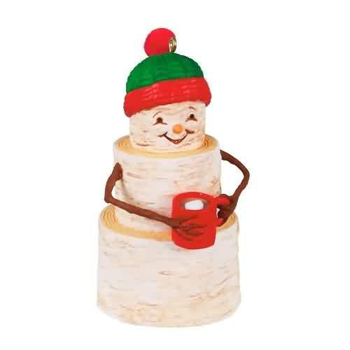2021 Cozy Birch Snowman Hallmark ornament (QGO2092)