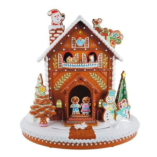2021 Deck The Gingerbread House Hallmark ornament (QFM3365)