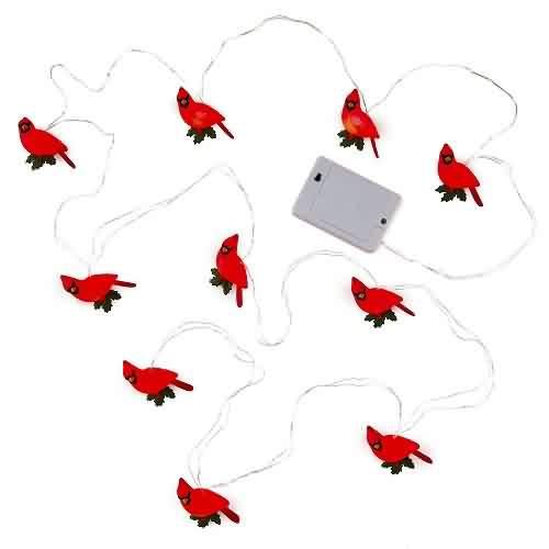 2021 Decorative Cardinal Light String Hallmark ornament (QSB6215)