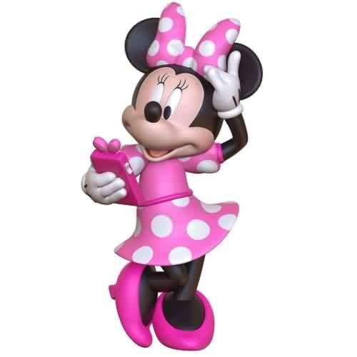 2021 Disney - Phoning A Friend Minnie Mouse Hallmark ornament (QXD6472)