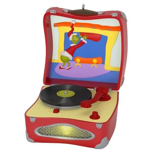 2021 Dr Seuss Record Player - Youre A Mean One Mr. Grinch Hallmark ornament (QXI7272)