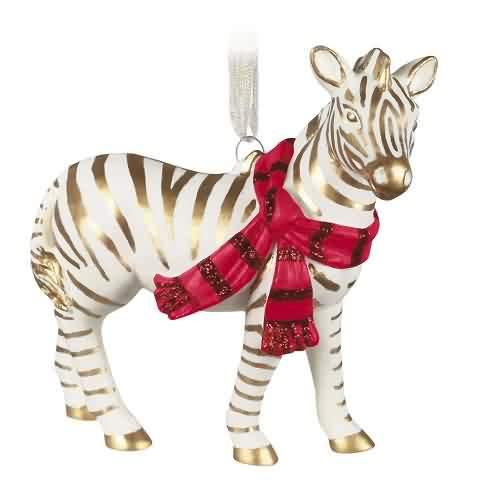 2021 Elegant Zebra Hallmark ornament (QK2042)