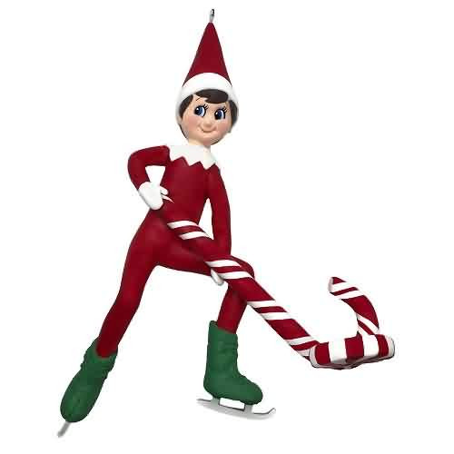2021 Elf On The Shelf - Elf on Ice Hallmark ornament (QXI7222)