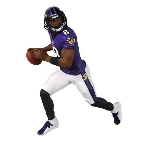2021 Football - Lamar Jackson - Ravens Hallmark ornament (QXI7345)