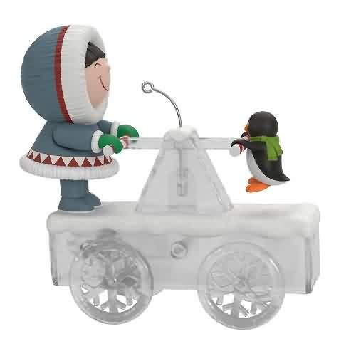 2021 Frosty Friends - Handcar High Jinks Hallmark ornament (QGO2125)