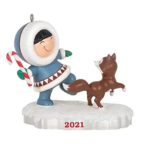 2021 Frosty Friends #42 - Fetchj Hallmark ornament (QXR9142)