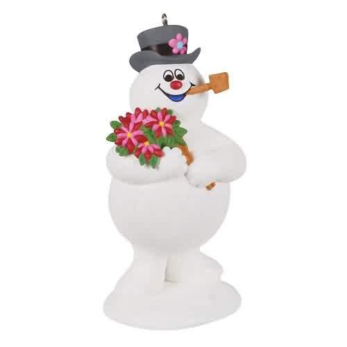 2021 Frosty the Snowman - Holiday Bouquet Hallmark ornament (QXI7042)