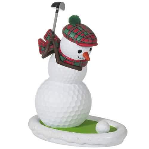 2021 Golfing In The Snow Hallmark ornament (QGO2395)