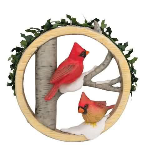 2021 Marjoleins Garden #8 - Christmas Cardinals Hallmark ornament (QXR9205)