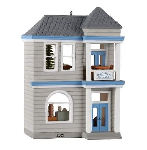 2021 Nostalgic Houses and Shops #38 - Keepsake Korners Coffee Shop Hallmark ornament (QXR9215)