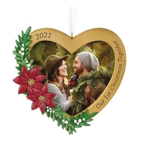 2021 Our First Christmas Together - Photo Hallmark ornament (QGO2105)