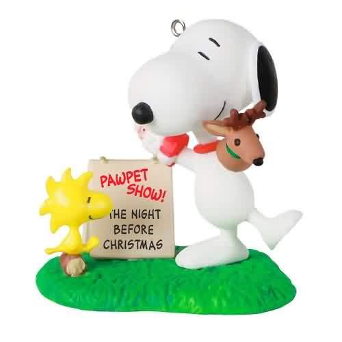 2021 Peanuts - Snoopys Pawpet Show Hallmark ornament (QXI7312)