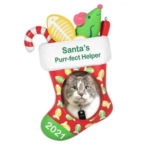 2021 Santas Purr-Fect Helper Hallmark ornament (QGO2065)