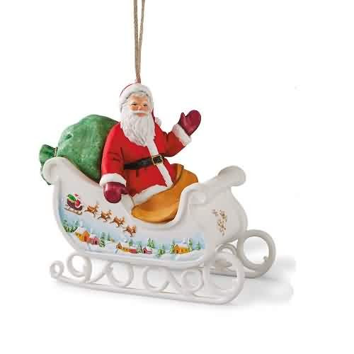 2021 Santas Sleigh - Club Hallmark ornament (QXC5562)