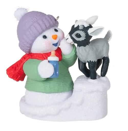 2021 Snow Buddies #24 - Goat Hallmark ornament (QXR9152)