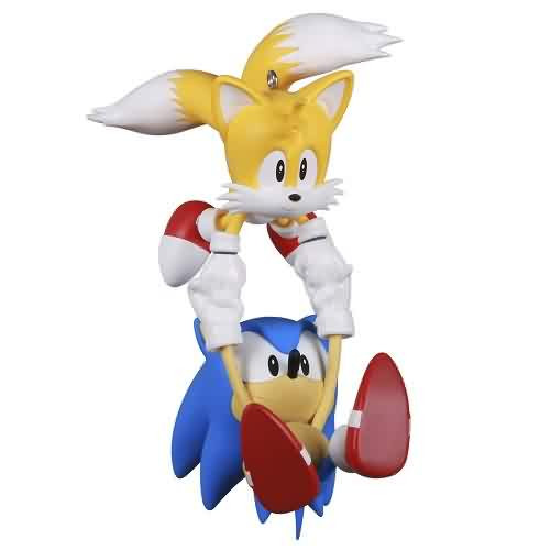2021 Sonic the Hedgehog - Sonic and  Tails Hallmark ornament (QXI7432)