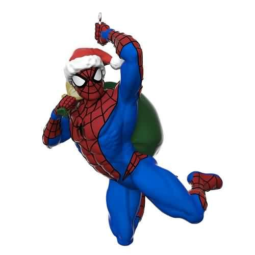 2021 Spider-man - In The Holiday Swing Hallmark ornament (QXI7462)