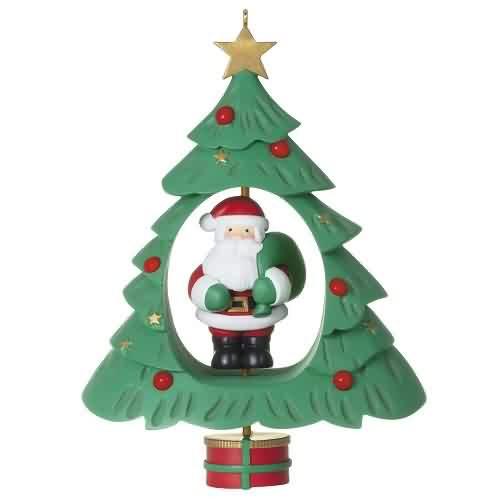 2021 Spinning Santa Hallmark ornament (QGO2132)