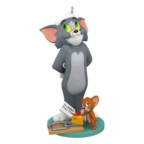 2021 Tom and Jerry - Night Before Christmas Hallmark ornament (QXI7065)