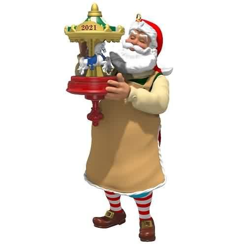 2021 Toymaker Santa #22 Hallmark ornament (QXR9105)