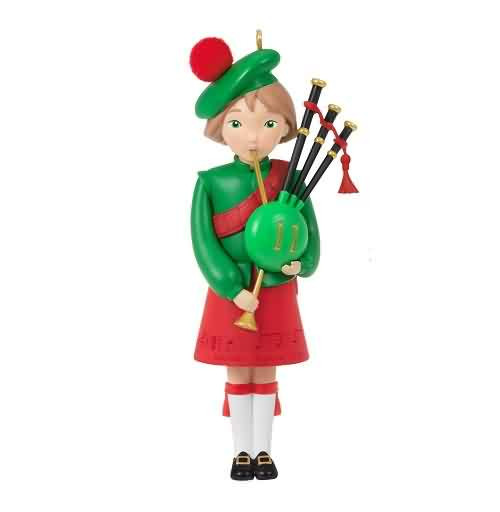 2021 Twelve Days of Christmas - Eleven Pipers Piping #11 Hallmark ornament (QXR9125)