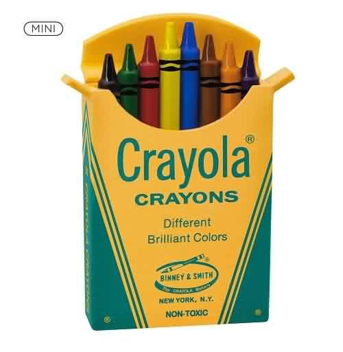 2021 Crayola - Mini Box Of 8 Hallmark ornament (QXM8272)