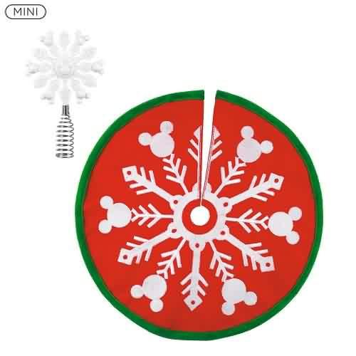 2021 Disney - Mini Mickey Tree Topper and Skirt Hallmark ornament (QSB6102)