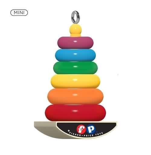 2021 Fisher Price - Mini Rock-A-Stack Hallmark ornament (QXM8265)