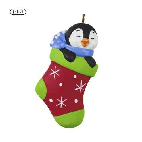 2021 Petite Penguins #6 - A Snuggly Stocking Hallmark ornament (QXM8305)