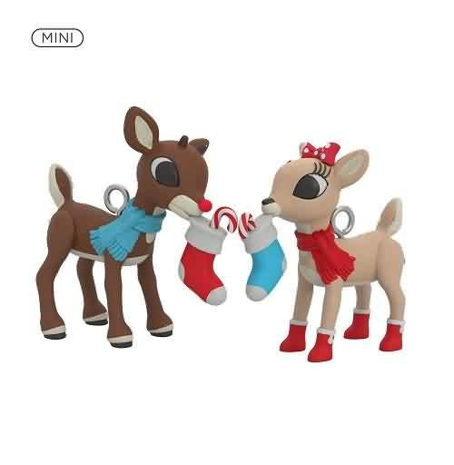 2021 Rudolph And Clarice Hallmark ornament (QXM8245)