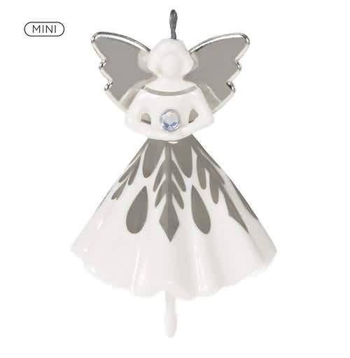 2021 Snowflake Angel - Miniature Hallmark ornament (QXM8385)