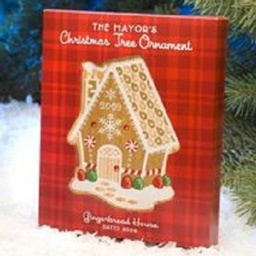 2009 Mayors Tree Ornament - Gingerbread House (MAYOR09)