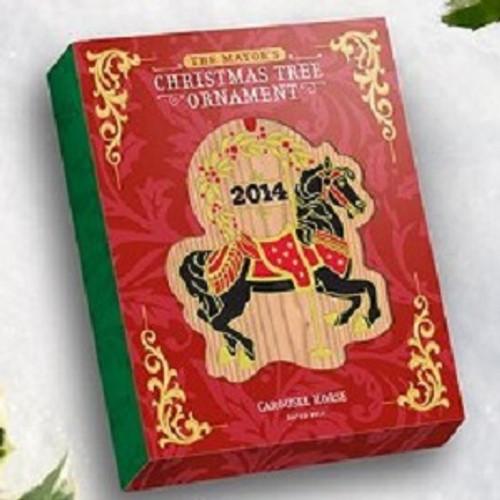 2014 Mayors Tree Ornament - Carousel Horse (MAYOR14)